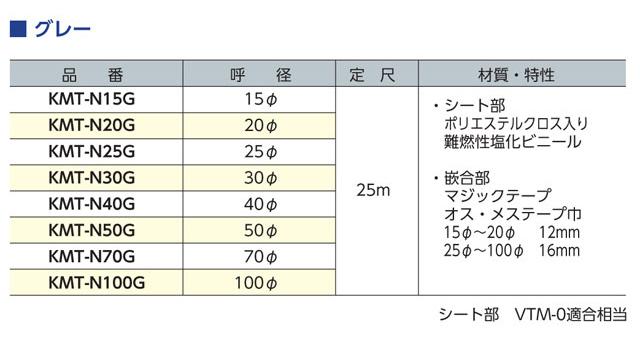 マジックチューブサイズ表